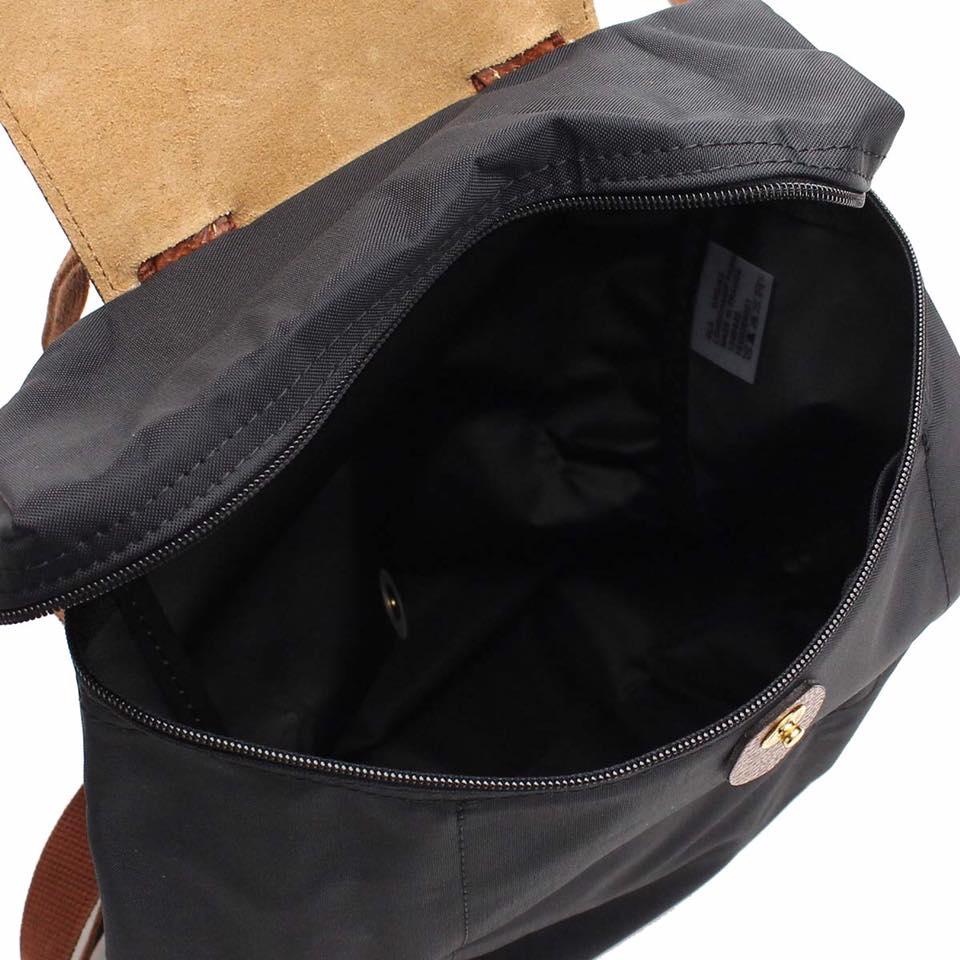 【 LONGCHAMP】 LE PLIAGE 黑色折疊後背包 2
