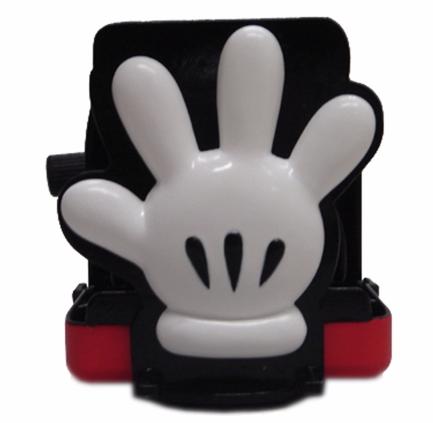 【真愛日本】17112400041 可收納造型杯架-米奇紅褲手掌 迪士尼 米老鼠 米奇 杯架 飲料架 汽車用品