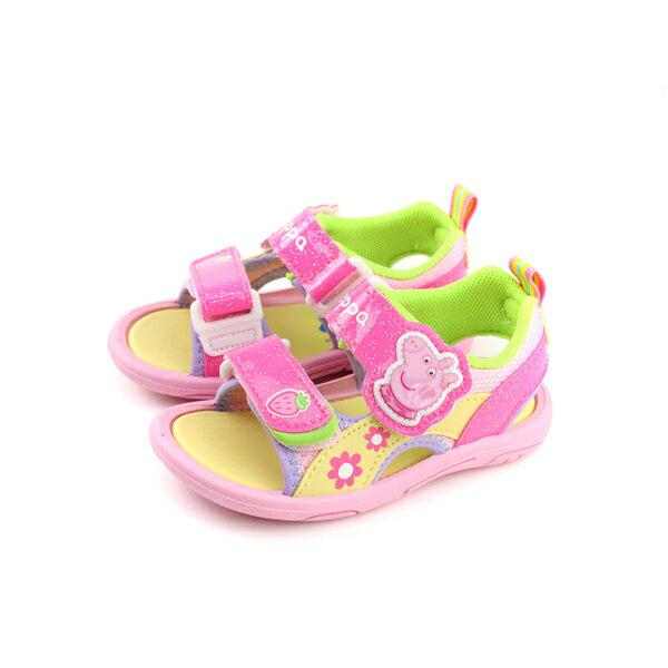 粉紅豬小妹PeppaPig涼鞋童鞋魔鬼氈粉紅色小童PG4524no727