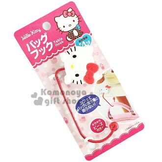 〔小禮堂〕Hello Kitty 桌面掛勾《紅白.大臉》耐重4公斤