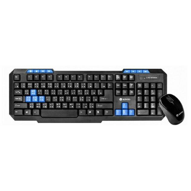 無限鍵盤滑鼠 耐嘉 KINYO GKBM-881 2.4GHz無線鍵盤鍵鼠組 鍵盤 滑鼠 電腦周邊 無線 0