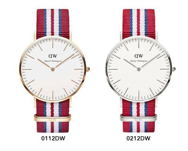 瑞典正品代購 Daniel Wellington 0112DW 玫瑰金 尼龍 帆布錶帶 男錶手錶腕錶 40MM 2