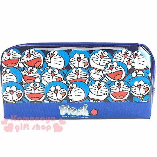 〔小禮堂〕哆啦A夢 拉鍊筆袋《藍.多動作滿版》也可當化妝包