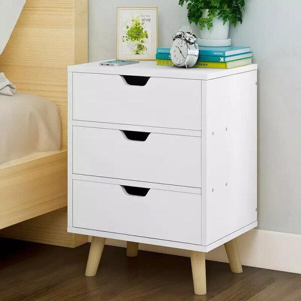 !新生活家具!《歐尼爾》白色DIY三斗櫃玄關櫃功能櫃置物櫃收纳櫃床頭櫃斗櫃美式古典
