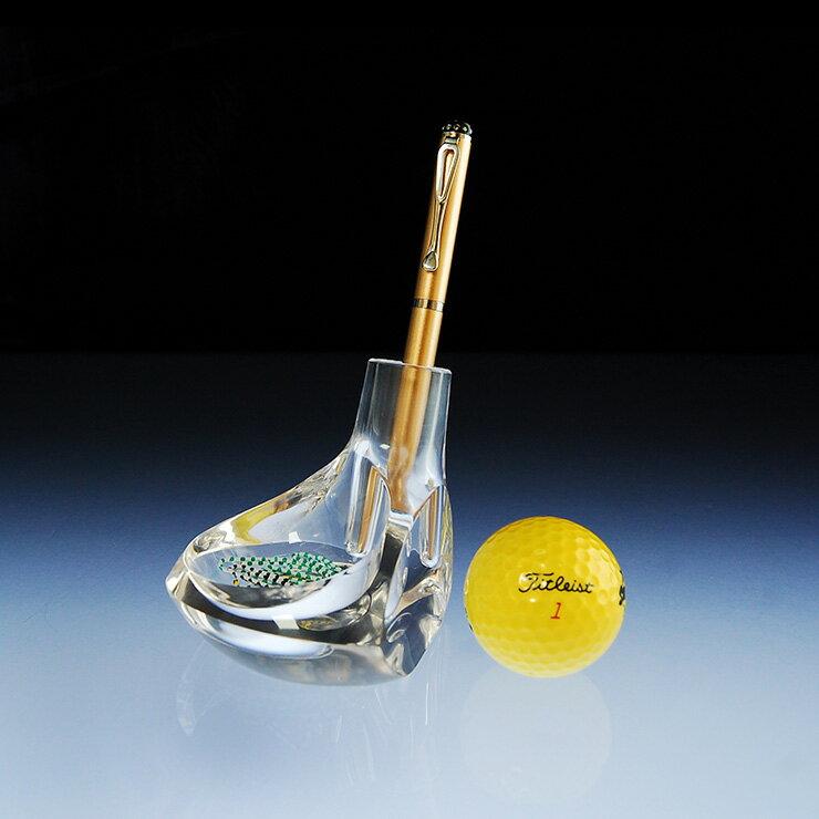 【美的空間】透明水晶壓克力 高爾夫球桿造型筆筒架 桌上型文具收納座 創意紙鎮筆筒#4994 台灣製 禮贈品 1