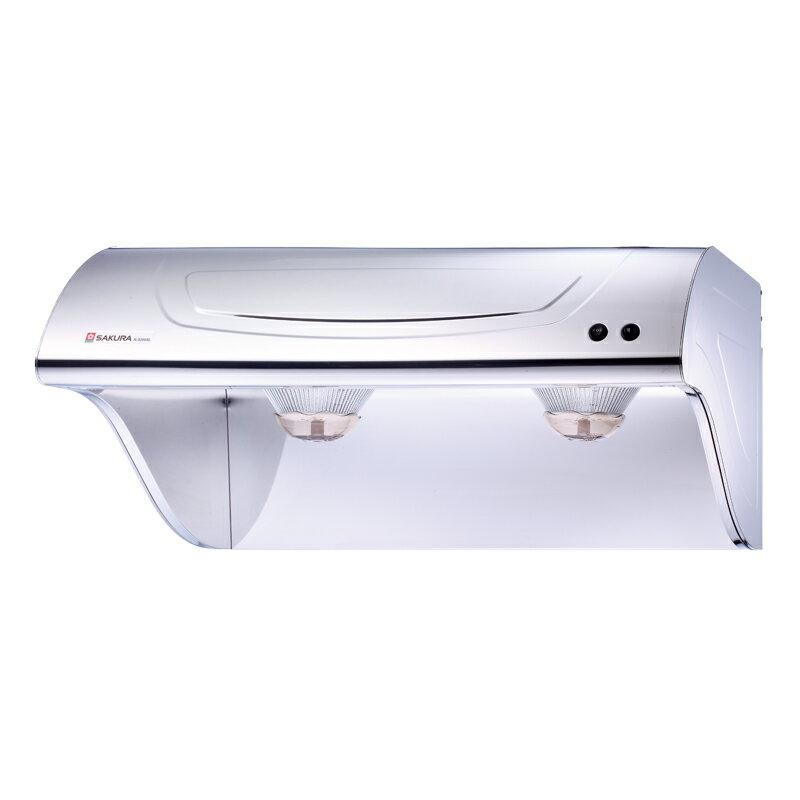 櫻花牌 R-3250S 白鐵斜背式除油煙機(70cm )?R3250S?(限北北基地區購買安裝)