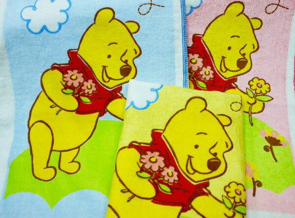 【Disney迪士尼-BPW832A】採花維尼小浴巾 1入
