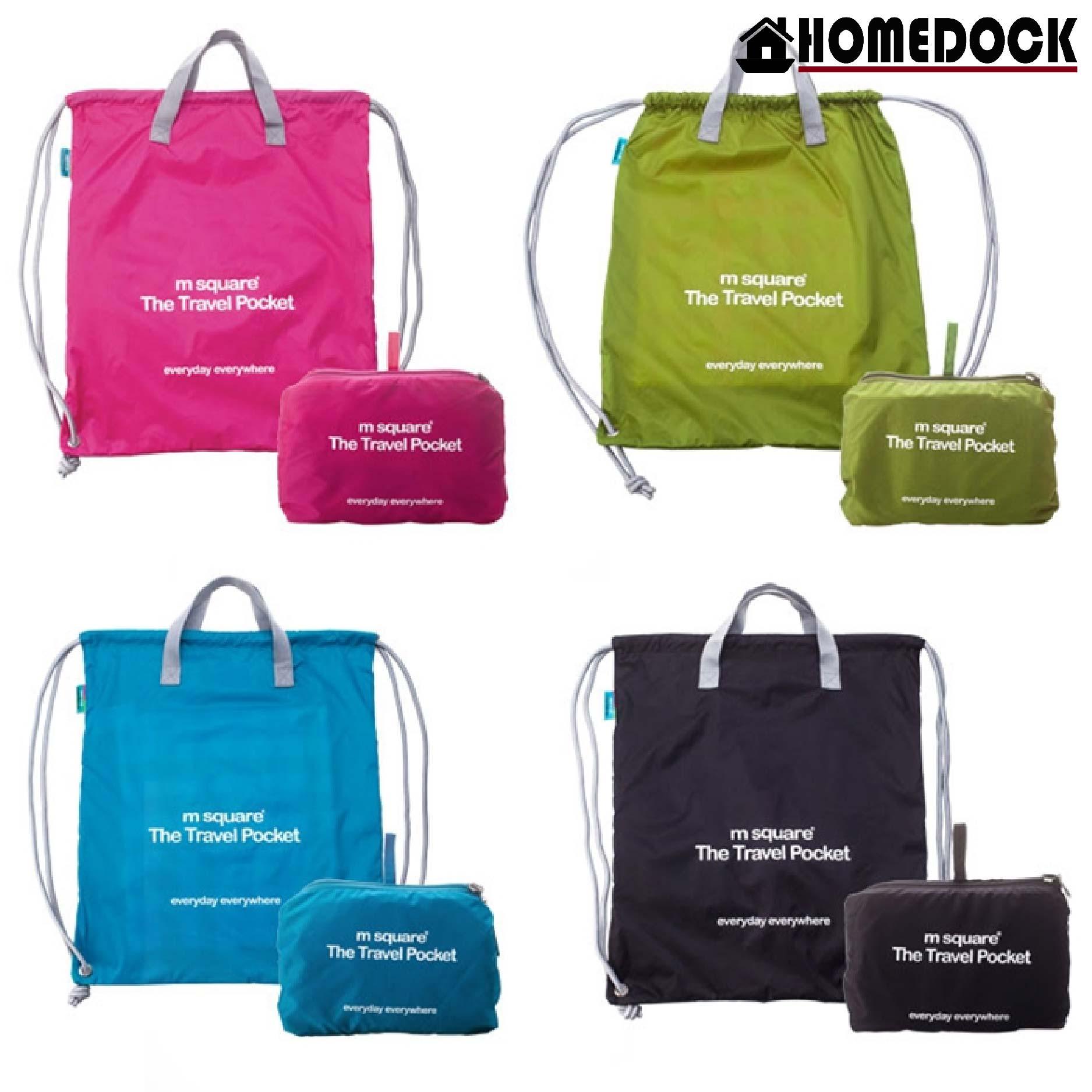 M Square 防水雙肩束口後背包 /束口包/購物袋/購物包/隨身包/衣物收納/旅行包/