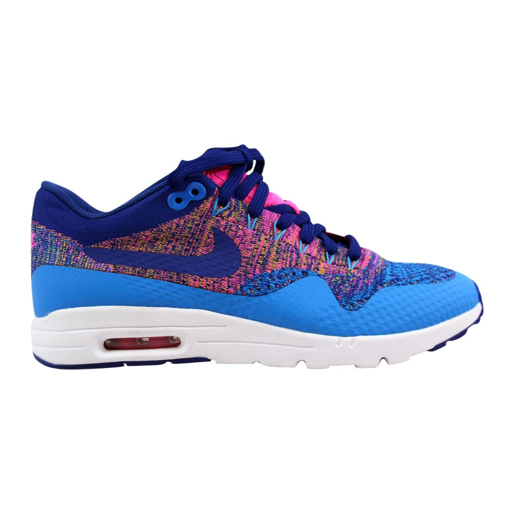 f00049d501 Nike Air Max 1 Ultra Flyknit Photo Blue/Deep Royal Blue 843387-400 Women's