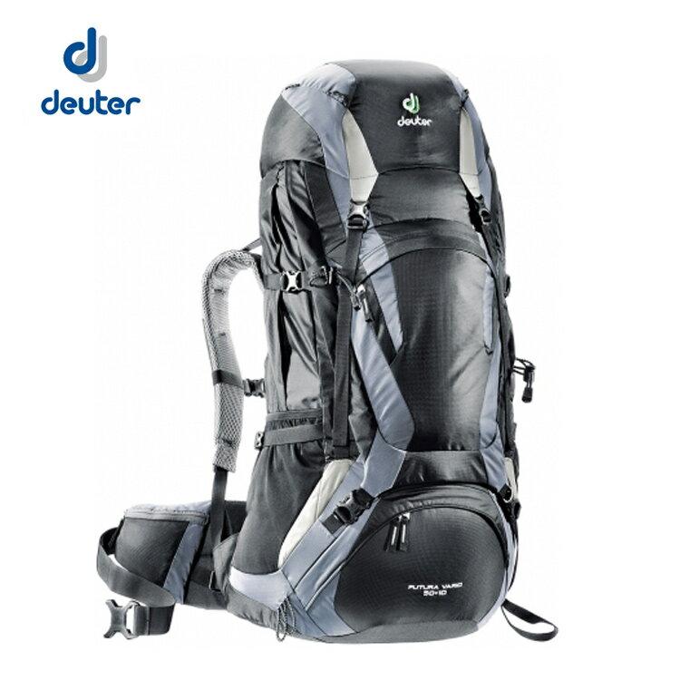 【露營趣】中和 送贈品 Deuter 34314 Futura Vario 50+10L網架直立式透氣背包/登山背包/旅行背包