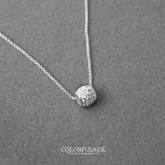 滿鑽925純銀項鍊 亮眼閃耀 小巧可愛 絕佳質感展現女孩般浪漫氣質 柒彩年代【NPB623】抗過敏 0