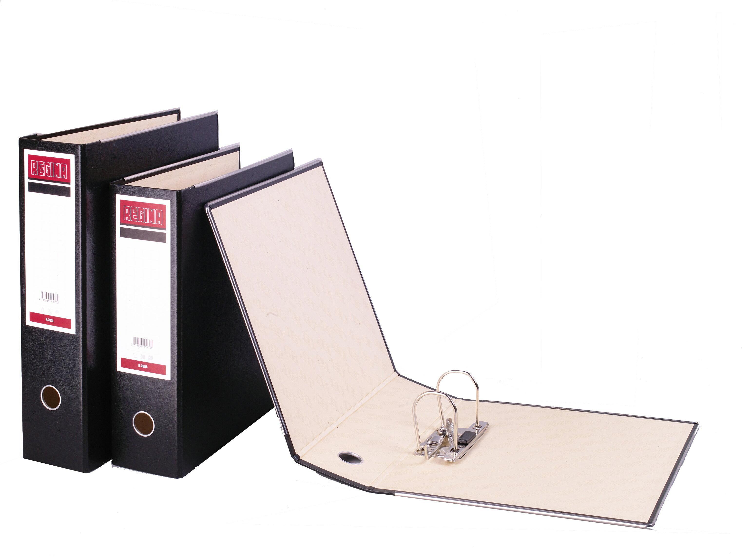 【立強regina】R285S西式 (12入/箱) 2孔拱型夾 - PVC材質(不含塑化劑)