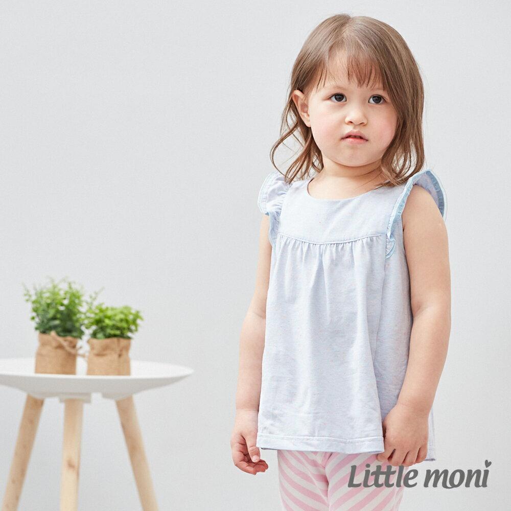 Little moni 輕甜荷葉袖上衣-亮天藍(好窩生活節) 0