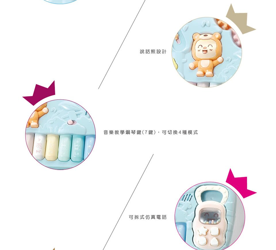 kikimmy 寶寶益智助步推車-天空藍TR04B / 草地綠TR04G【德芳保健藥妝】 7