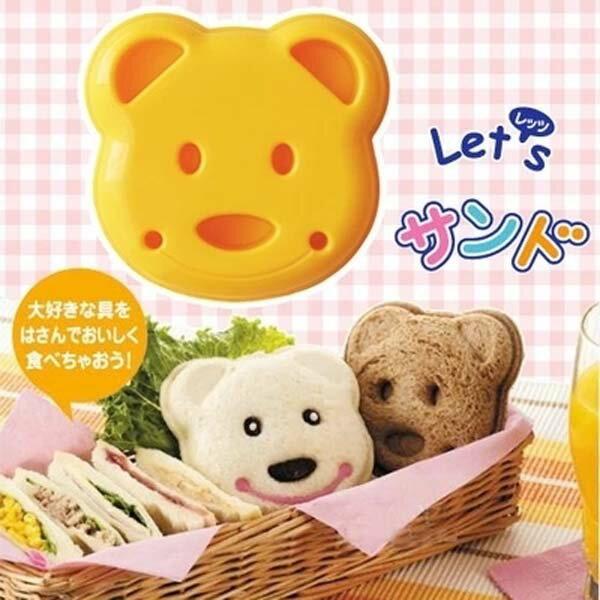 BO雜貨【SV8086】日本製 DIY小熊三明治模具 麵包模具 吐司麵包模型 三明治切邊器