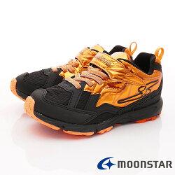 日本月星頂級競速童鞋 閃電競速2E系列 SSJ8622橘黑(中大童段)