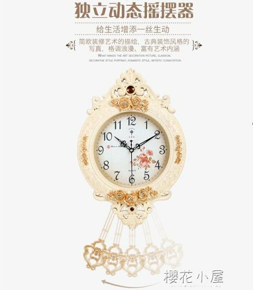 北極星歐式鐘錶創意掛鐘搖擺時尚個性掛錶復古靜音客廳時鐘石英鐘林之舍家居