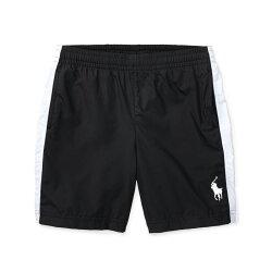 美國百分百【Ralph Lauren】運動褲 短褲 休閒褲 褲子 Polo RL 小馬 黑色 XS S號 青年版 I162