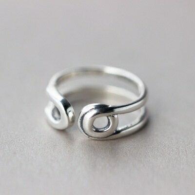925純銀戒指開口戒~復古鏤空圓圈 生日情人節 女飾品73dt576~ ~~米蘭 ~
