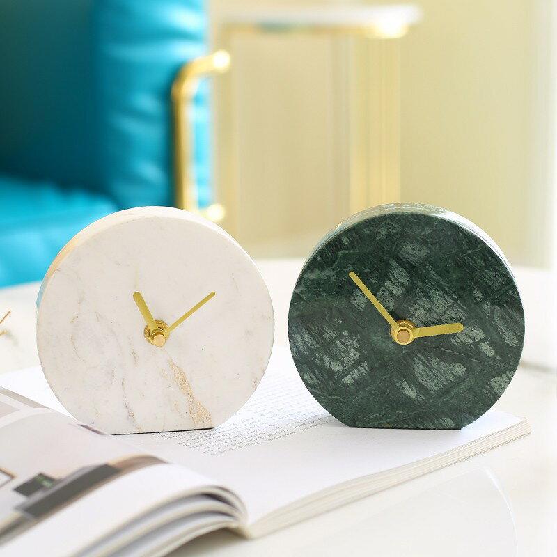 北歐鐘表擺件座鐘家用客廳桌面時鐘臥室裝飾現代個性簡約創意擺設 露露生活館