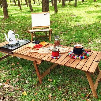 【露營趣】中和 HOT CAMP HC813 白橡實木多功能伸縮料理桌 行動廚房 木板桌 摺疊桌