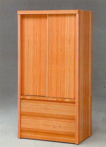 【尚品家具】☆特別優惠☆637-07 山毛色 3x6 推門衣櫥/衣櫃/收納櫃/櫥櫃~有四色