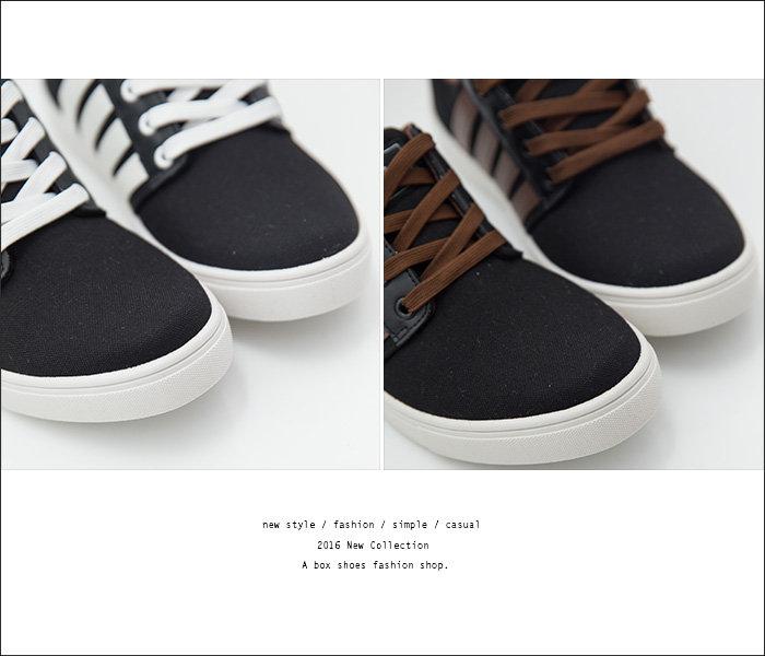 格子舖*【AJ37078】MIT台灣製 雜誌基本款男款布面 繫帶休閒鞋 滑板鞋 帆布鞋 2色 1
