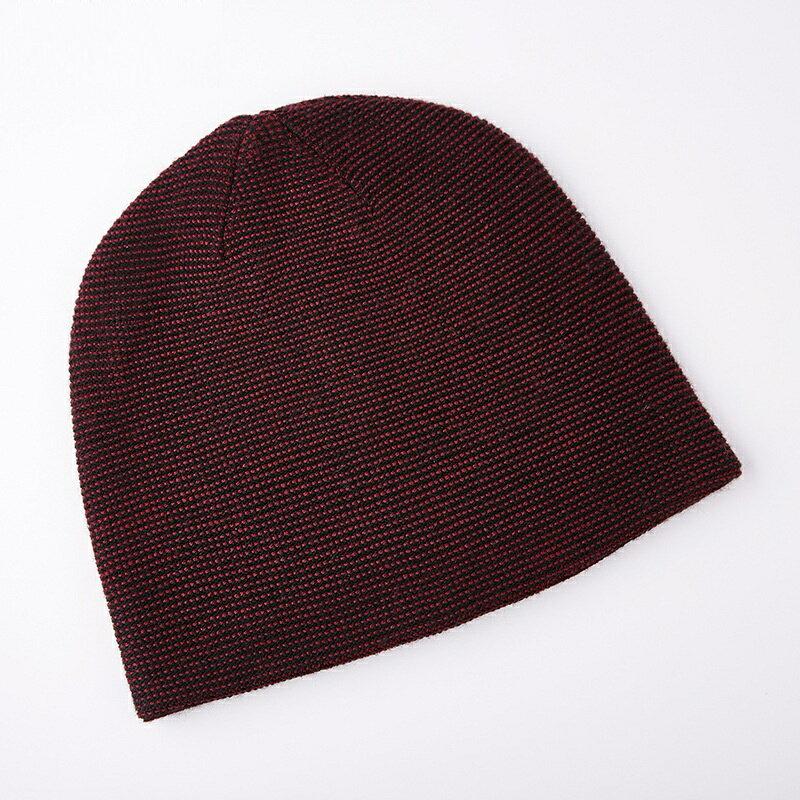 毛帽羊毛針織帽-點點提花捲邊包頭男帽子4色73wj43【獨家進口】【米蘭精品】 2