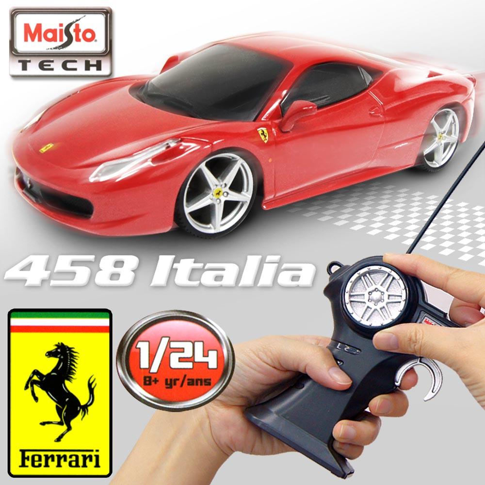 【Maisto】Ferrari 458 Italia《1/24》無線遙控模型車 -紅色