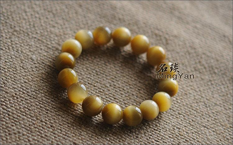 限量發售 12mm蜜蠟色全黃 虎晶石 如蜂蜜般美麗的顏色