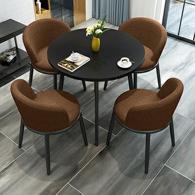 接待洽談桌簡約接待洽談桌椅組合辦公室售樓部休息區店鋪陽臺休閒小圓餐桌椅『DD2232』 5