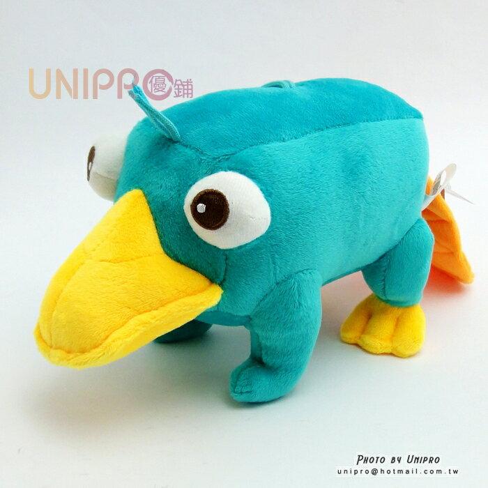 【UNIPRO】迪士尼 飛哥與小佛 鴨嘴獸 泰瑞鴨 趴姿泰瑞 絨毛玩偶 絨毛娃娃 吸盤吊飾