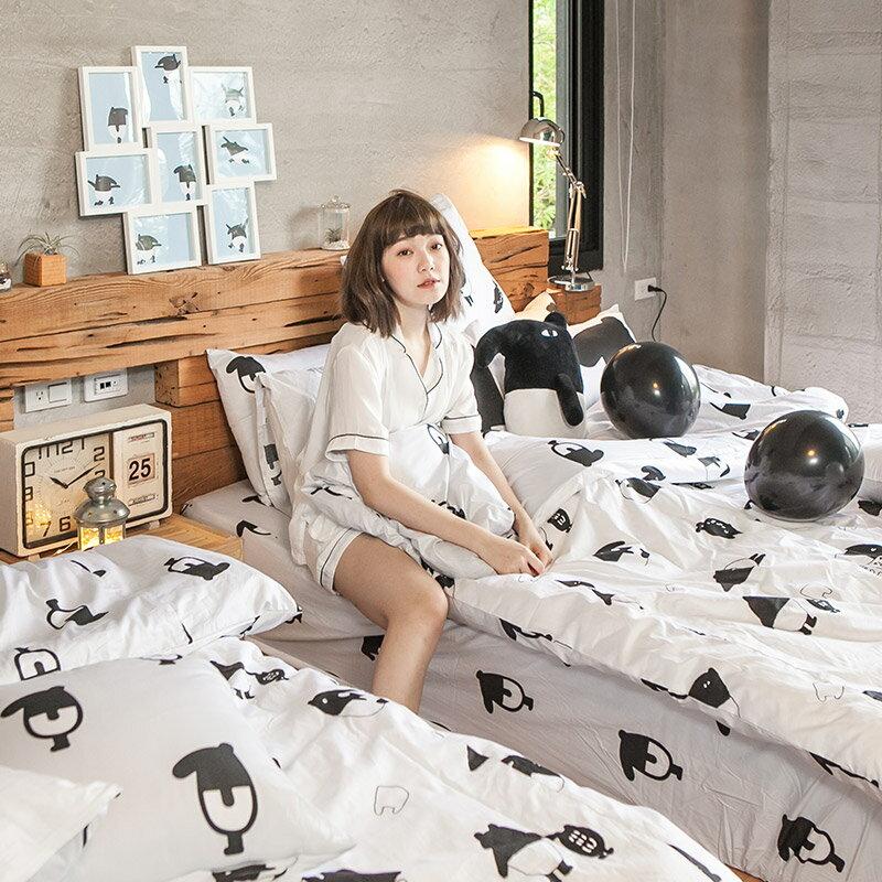 床包被套組  /  雙人-100%精梳棉【經典黑白款-馬來貘的日常】含兩件枕套 獨家人氣插畫家 聯名款 戀家小舖 台灣製 8