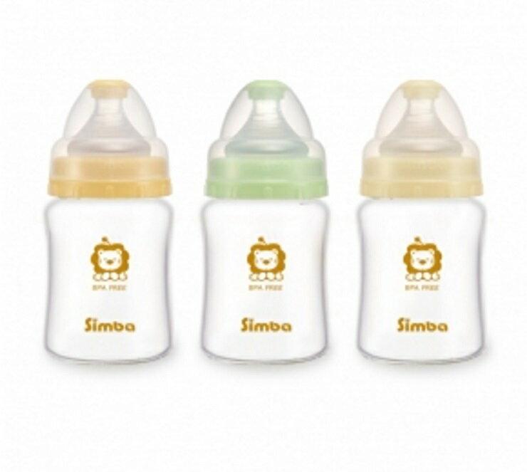 小獅王辛巴超輕鑽寬口雙凹玻璃小奶瓶150ml