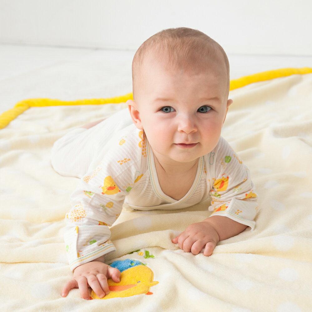 『121婦嬰用品館』黃色小鴨 戴帽印點四季毯 3