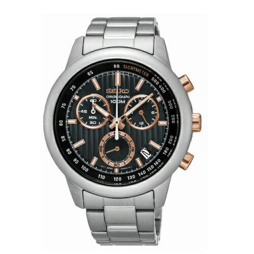 方采鐘錶 SEIKO CS線條時尚計時腕錶 / 8T68-00A0P/ SSB215P1