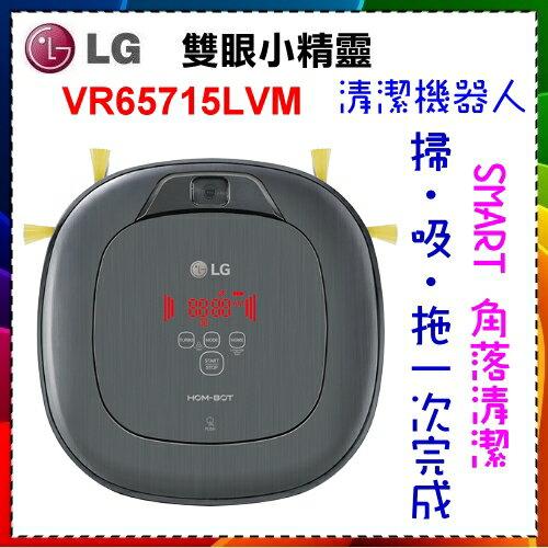 【LG 樂金】雙眼小精靈 清潔機器人 變頻版 / 典雅銀 VR65715LVM 掃地 吸塵器