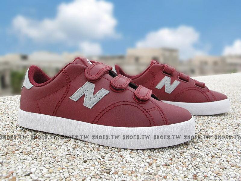 《下殺6折》Shoestw【KVCRTBUY】NEW BALANCE 童鞋 休閒鞋 中童 酒紅灰 黏帶 大人女生可穿