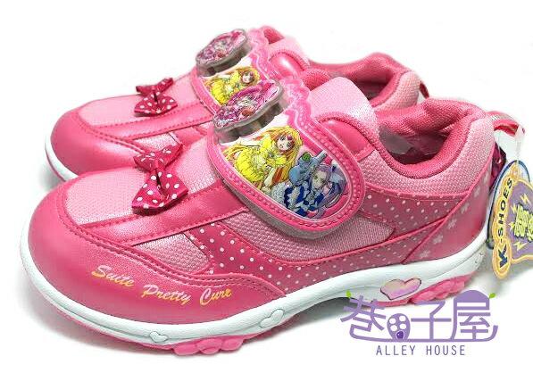 【巷子屋】光之美少女 美樂天使 女童蝶結造型電燈運動休閒鞋 [47303] 粉 MIT台灣製造 超值價$198