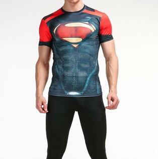 FINDSENSEMD日系時尚男高彈力緊身運動短T訓練服跑步健身T恤短袖T恤S戰衣