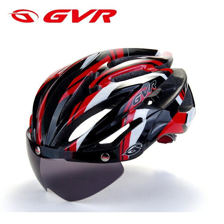 【頑騎】免運費【GVR】獨家專利 磁吸式自行車安全帽(附鏡片) G307V 阿波羅系列 3塗裝共12色 0