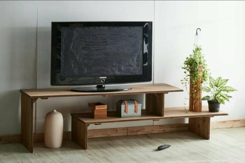 素材風電視櫃(可伸縮) 實木電視櫃 北歐風家具 L型電視櫃 實木家具  A.H.Furniture FA8072 寬度152-275*41*50(需DIY自行組裝)