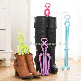 【F16042701】創意可折疊愛心造型撐靴夾 長靴子支撐架 馬靴雪靴靴子夾(長款)