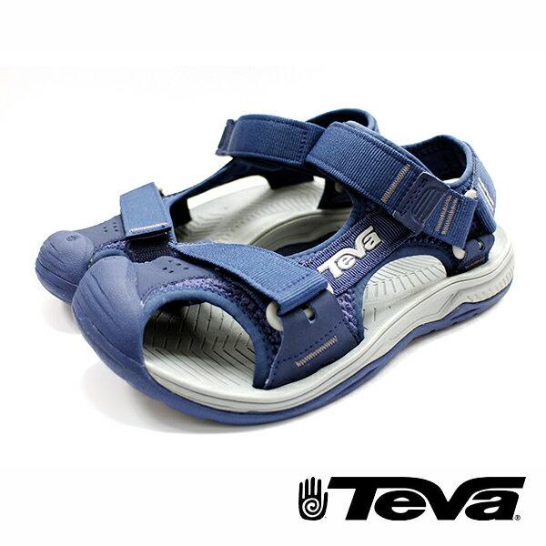 【TEVA 8折 │全店免運】】TEVA Hurricane Toe Pro 水陸兩用涼鞋藍灰TV1000352NGRY
