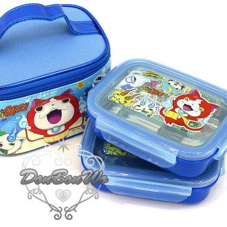 妖怪手錶不銹鋼便當盒便當袋3件組手提藍人物集合053055海渡