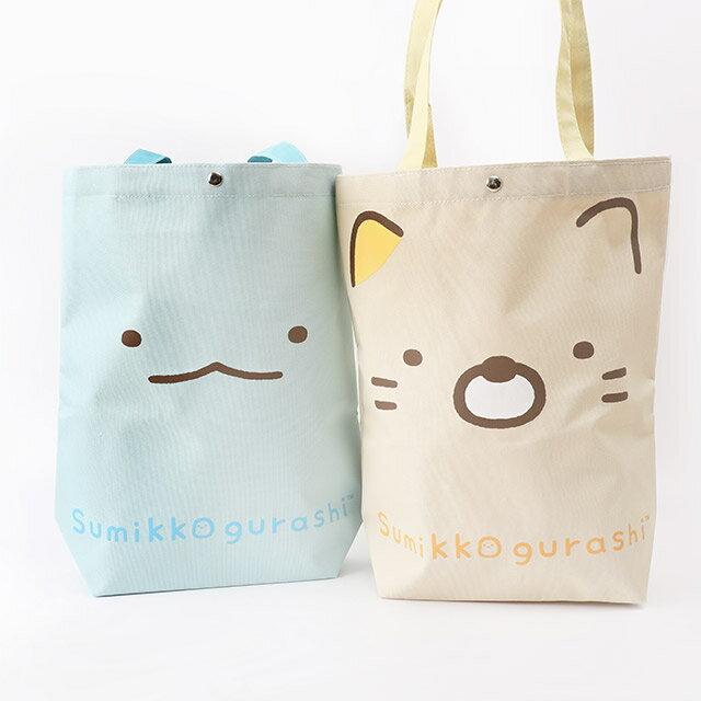日貨角落生物直立式帆布手提袋- Norns 日本進口 恐龍 貓咪 白熊 包包 購物袋