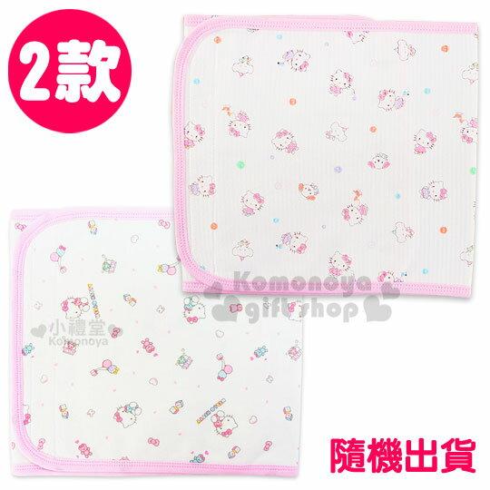 〔小禮堂嬰幼館〕台灣 佳美 Hello Kitty 鋪棉肚圍《2款.隨機出貨.大.白.玩具/扣子》