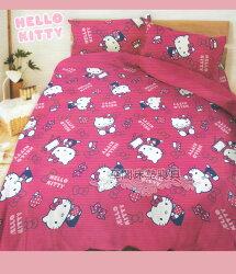 *華閣床墊寢具*《HELLO KITTY-生活點滴》單人床包組【床包+枕套*1】3.5*6.2 正版授權 台灣製