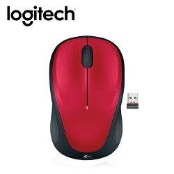 【logitech 羅技】M235 無線滑鼠 紅 【限量送束口收納袋】【三井3C】