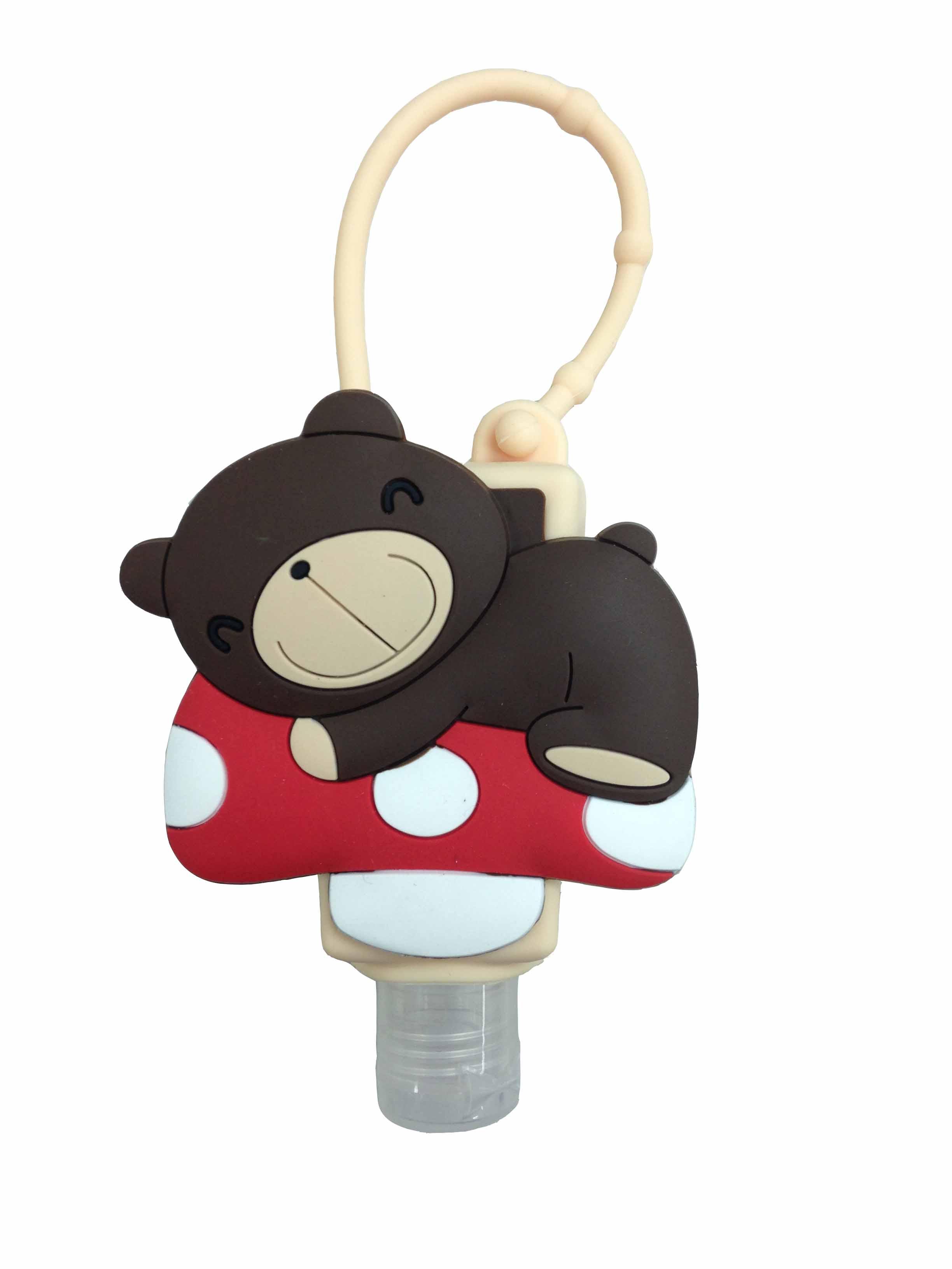 防護大師乾洗手凝露-香菇熊造型立體膠套-木質調香味